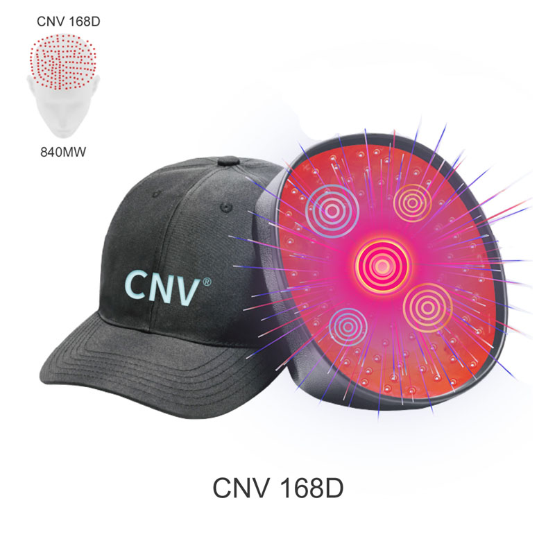 Black CNV 168 Laser Lapms Medical-Grade Hair In Growth Cap