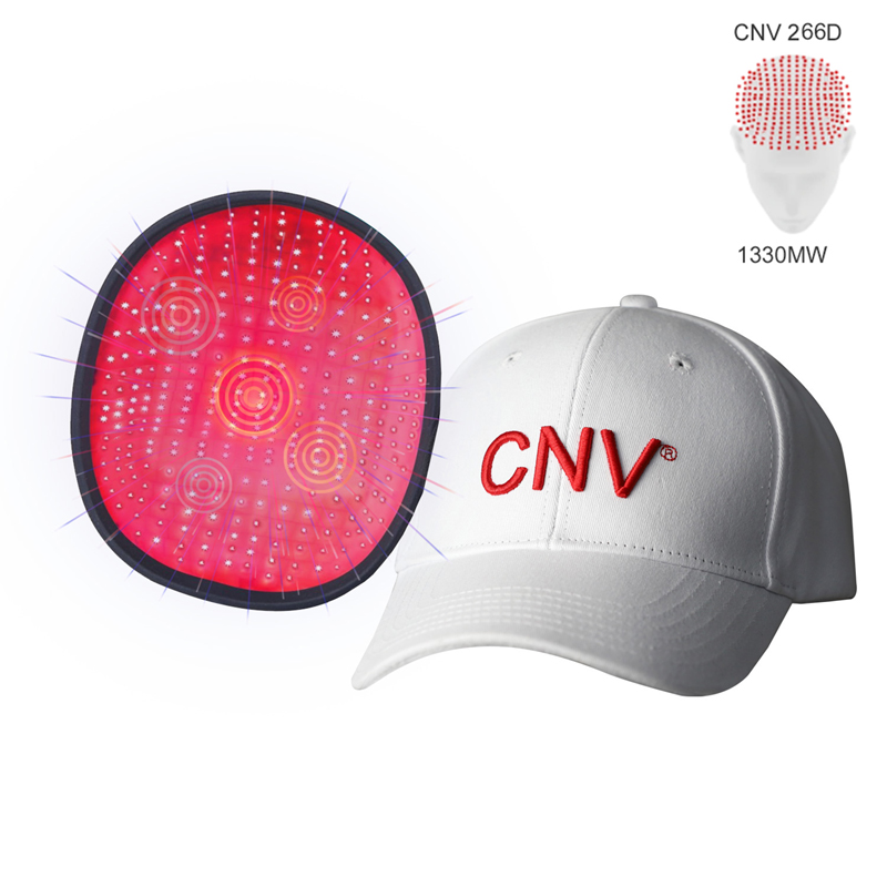 White CNV 266 Laser Lamps Medical-Grade Hair In Growth Cap